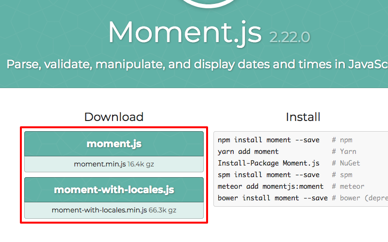Moment.js with and without locales